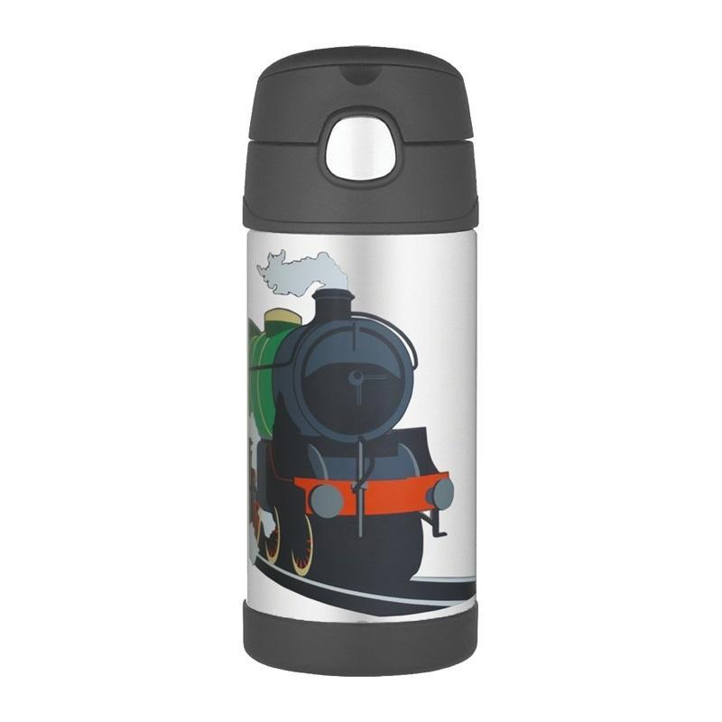 Thermos termoska so slamkou Čierna vláčik  dcd3faf544e