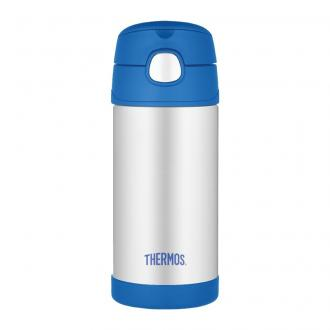 Thermos termoska so slamkou Modrá, 355ml