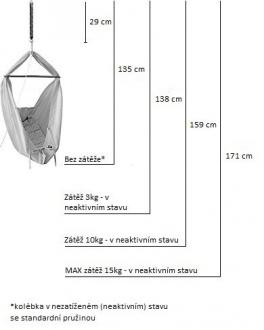 Hojdavak BABY XL do stropu, max.15 kg