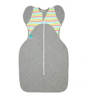 LOVE TO DREAM SwaddleMe Up 50/50 Winter, Multi Stripe