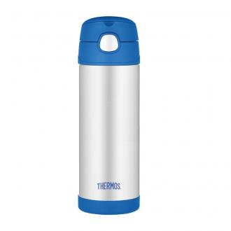 Thermos termoska so slamkou Modrá , 470ml